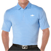 Callaway Core Stripe Light Blue/White Polo-Solid Color Mark