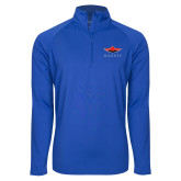 Sport Wick Stretch Royal 1/2 Zip Pullover-Solid Color Mark