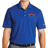 Nike Golf Dri Fit Royal Micro Pique Polo-Solid Color Mark