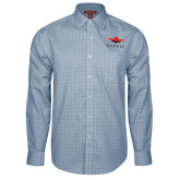 Red House Light Blue Plaid Long Sleeve Shirt-Solid Color Mark