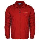 Full Zip Red Wind Jacket-Solid Color Mark