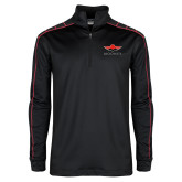Nike Golf Dri Fit 1/2 Zip Black/Red Pullover-Solid Color Mark