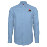 Red House Lt Blue Long Sleeve Shirt-Solid Color Mark