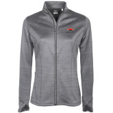 Ladies Callaway Stretch Performance Heather Grey Jacket-Solid Color Mark