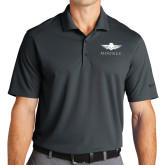 Nike Golf Dri Fit Charcoal Micro Pique Polo-Solid Color Mark