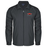 Full Zip Charcoal Wind Jacket-Solid Color Mark