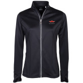 Ladies Callaway Stretch Performance Black Jacket-Solid Color Mark