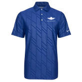 Nike Dri Fit Royal Embossed Polo-Solid Color Mark