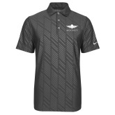 Nike Dri Fit Charcoal Embossed Polo-Solid Color Mark