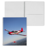 College Spiral Notebook w/Clear Coil-Aircraft 1