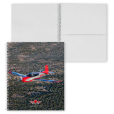 College Spiral Notebook w/Clear Coil-Aircraft 3