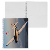 College Spiral Notebook w/Clear Coil-Aircraft 6