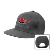 Charcoal Flat Bill Snapback Hat-Solid Color Mark