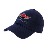 Navy Twill Unstructured Low Profile Hat-Solid Color Mark