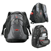 Wenger Swiss Army Tech Charcoal Compu Backpack-Solid Color Mark