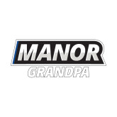 Small Decal-Manor Grandpa, 6 inches wide