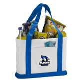 Contender White/Royal Canvas Tote-Primary Mark