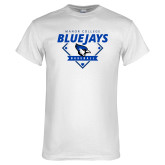 White T Shirt-Baseball Design