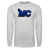 White Long Sleeve T Shirt-MC Logo