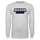 White Long Sleeve T Shirt-Manor BlueJays