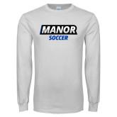 White Long Sleeve T Shirt-Manor Soccer