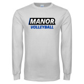 White Long Sleeve T Shirt-Manor Volleyball