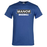 Royal T Shirt-Manor Baseball