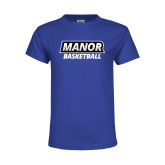 Youth Royal T Shirt-Manor Basketball