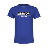 Youth Royal T Shirt-Manor Soccer