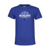 Youth Royal T Shirt-Soccer Design