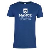 Ladies Royal T-Shirt-Manor College Logo
