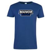 Ladies Royal T-Shirt-Manor BlueJays