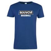 Ladies Royal T-Shirt-Manor Baseball