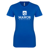 Next Level Ladies SoftStyle Junior Fitted Royal Tee-Secondary Logo