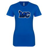 Next Level Ladies SoftStyle Junior Fitted Royal Tee-MC Logo