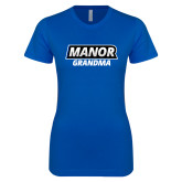 Next Level Ladies SoftStyle Junior Fitted Royal Tee-Manor Grandma