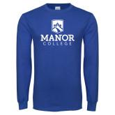 Royal Long Sleeve T Shirt-Secondary Logo