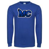 Royal Long Sleeve T Shirt-MC Logo