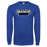 Royal Long Sleeve T Shirt-Manor BlueJays