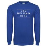 Royal Long Sleeve T Shirt-Manor Slogan