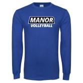 Royal Long Sleeve T Shirt-Manor Volleyball