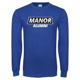 Royal Long Sleeve T Shirt-Manor Alumni