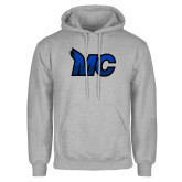 Grey Fleece Hoodie-MC Logo