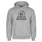 Grey Fleece Hoodie-Volleyball Design