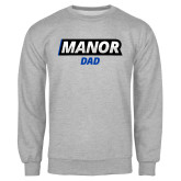 Grey Fleece Crew-Manor Dad