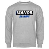 Grey Fleece Crew-Manor Alumni