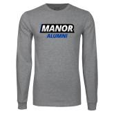 Grey Long Sleeve T Shirt-Manor Alumni