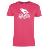 Ladies Fuchsia T Shirt-Primary Mark