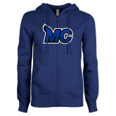 ENZA Ladies Royal Fleece Full Zip Hoodie-MC Logo