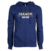 ENZA Ladies Royal Fleece Full Zip Hoodie-Manor Soccer